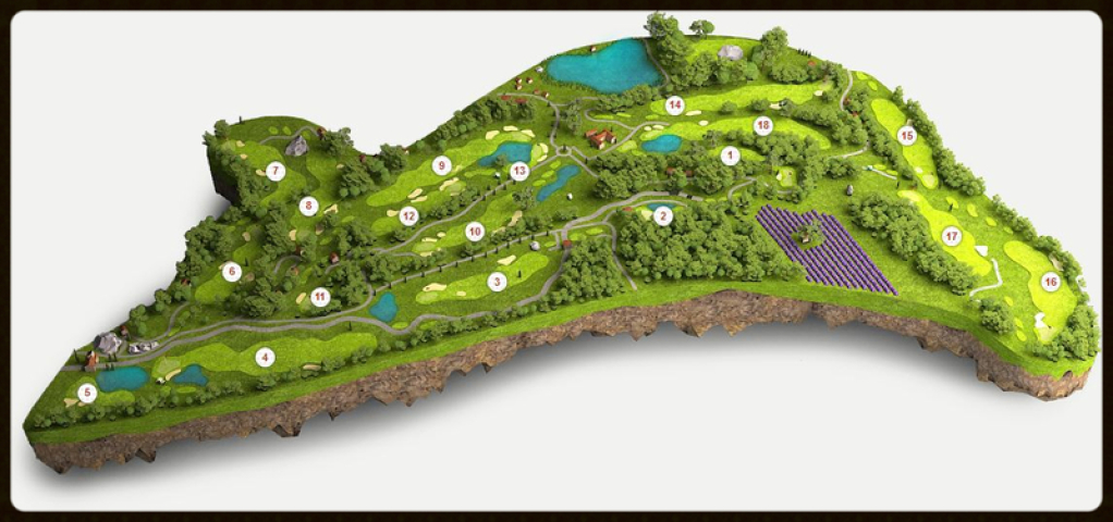 Golf International de Pont Royal - 18-Loch in Mallemort, Ballesteros