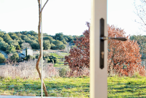 The Natural Parc of the Luberon - with cherry trees, truffle trees and olive trees