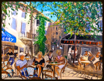 Malerisches Lourmarin, bei Bonnieux in der Provence